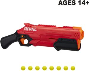 NERF Rival Takedown XX-800 Blaster -- Pump Action, Breech-Load, 8-Round Capacity, 90 FPS