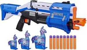 Nerf Fortnite TS-R Blaster & Llama Targets -- Pump Action Blaster, 3 Llama Targets, 8 Official Mega Darts